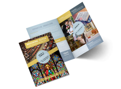 Church Event Bi-Fold Brochure Template 2