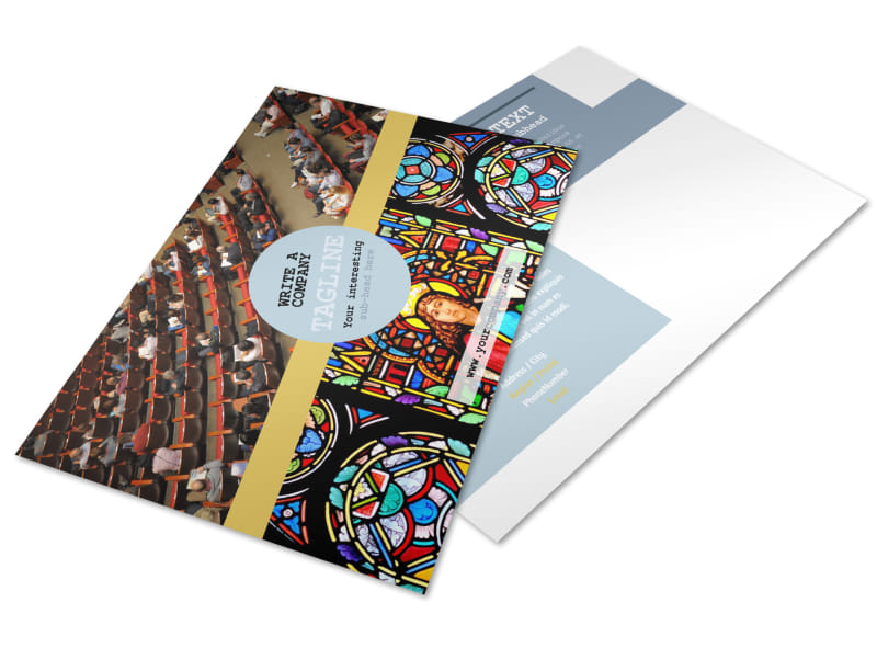 Church Event Postcard Template MyCreativeShop - Event postcard template