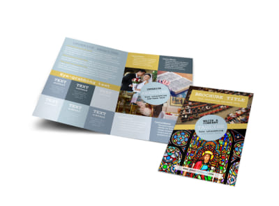Church Event Bi-Fold Brochure Template