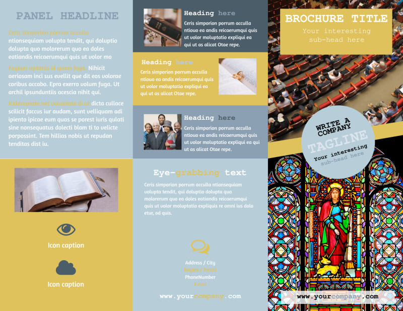 Church Event Brochure Template Preview 2