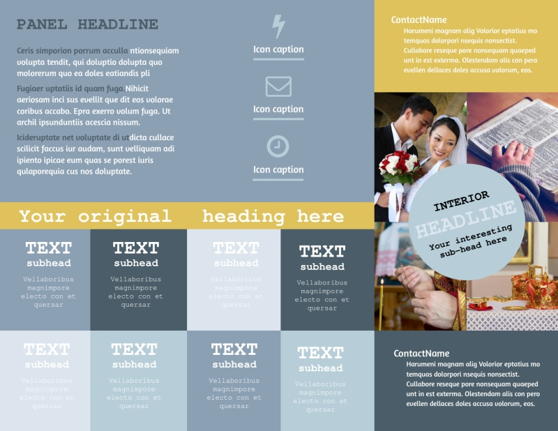 Church Event Brochure Template Preview 3