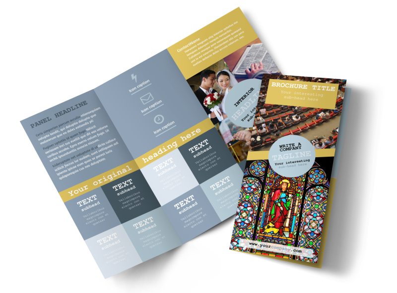Church Event Brochure Template Preview 1