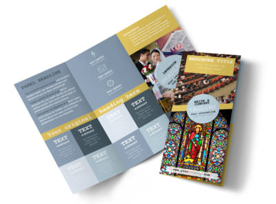 Church Event Tri-Fold Brochure Template preview