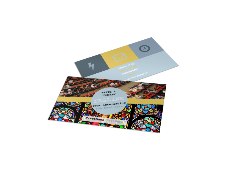 Church Event Business Card Template Preview 1