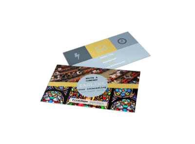 Church Event Business Card Template preview