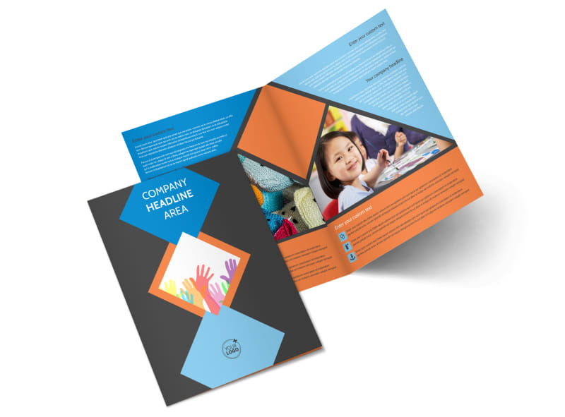 Outreach program Bi-Fold Brochure Template 2