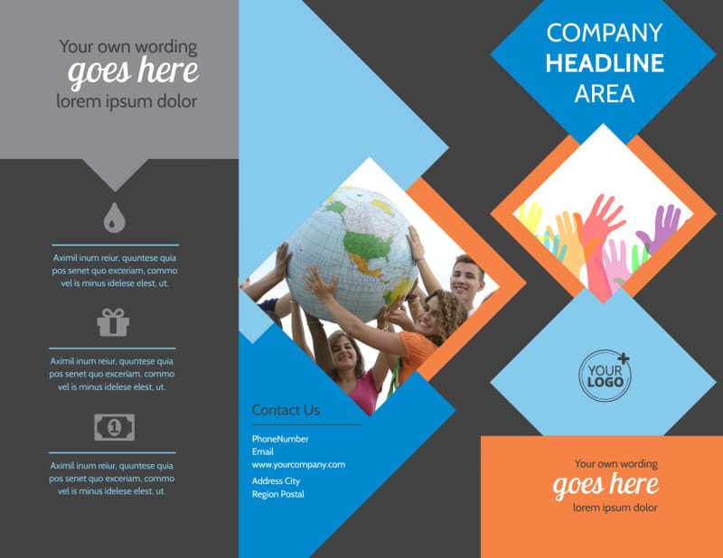 Outreach program Brochure Template Preview 2