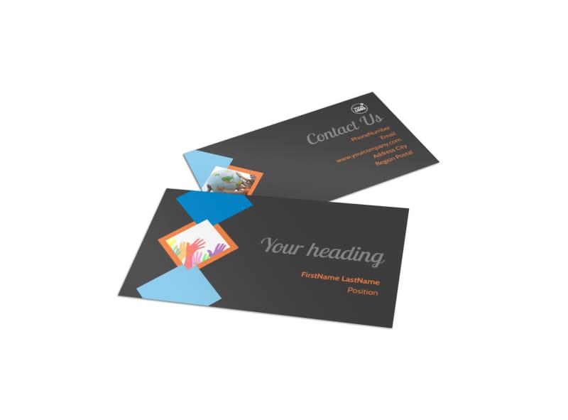 Outreach program Business Card Template