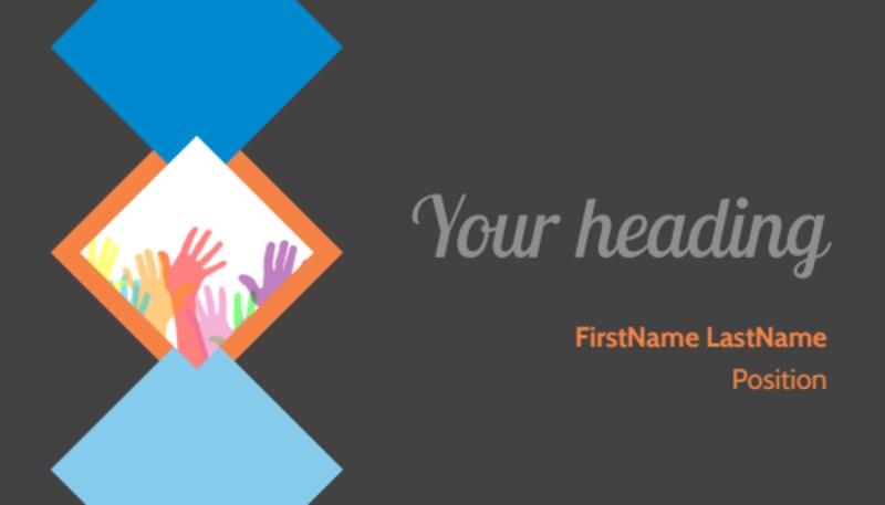 Outreach program Business Card Template Preview 2