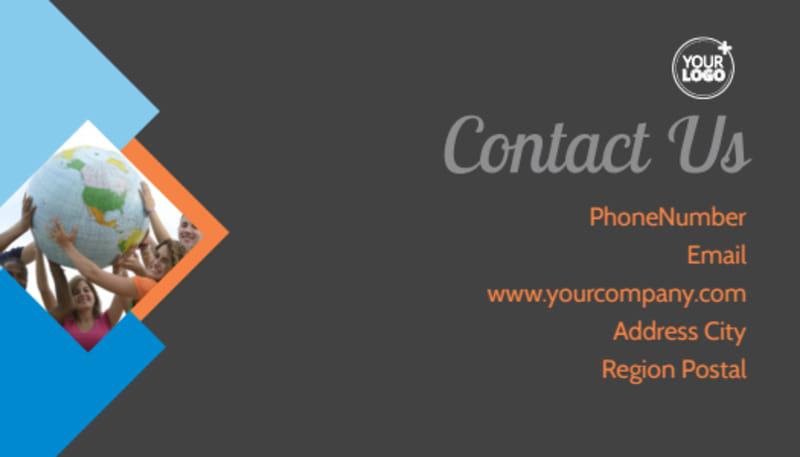 Outreach program Business Card Template Preview 3