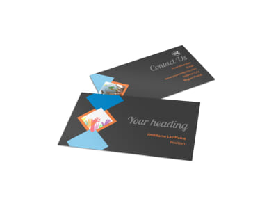 Outreach program Business Card Template
