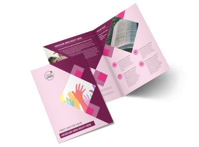 Church Fundraiser Bi-Fold Brochure Template 2