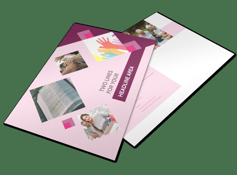 Church Fundraiser Postcard Template Preview 1
