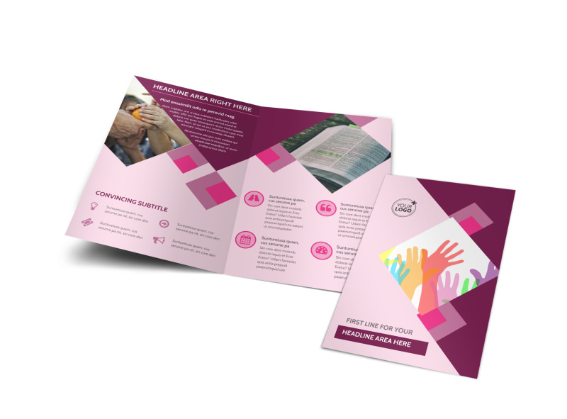 Church Fundraiser Bi-Fold Brochure Template