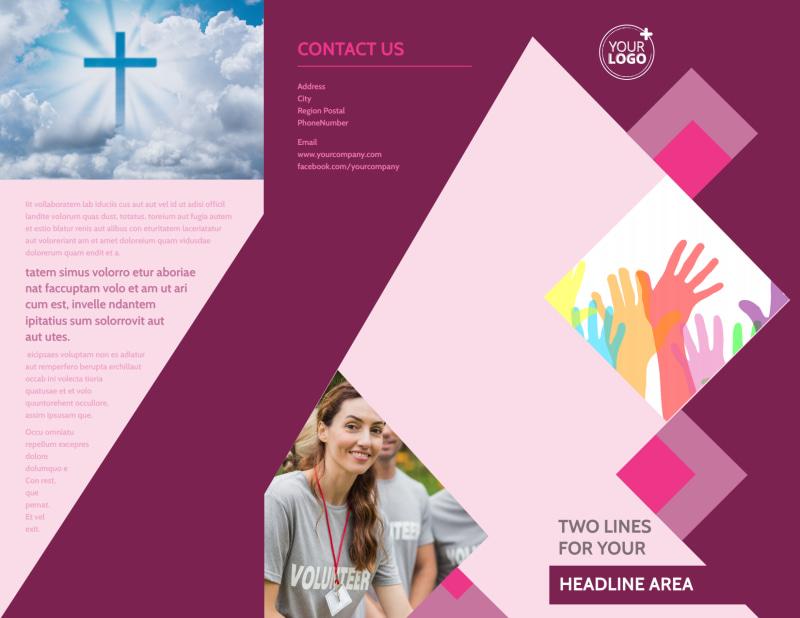 Church Fundraiser Brochure Template Preview 2