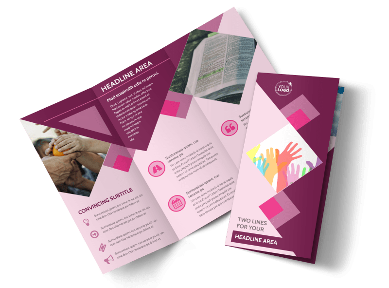 Church Fundraiser Brochure Template Preview 1