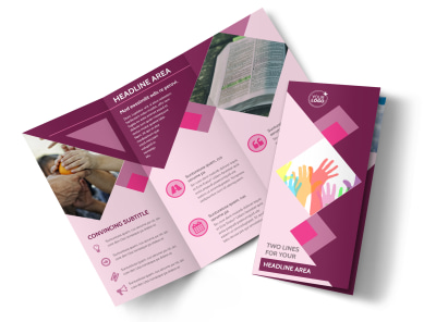 Church Fundraiser Tri-Fold Brochure Template preview