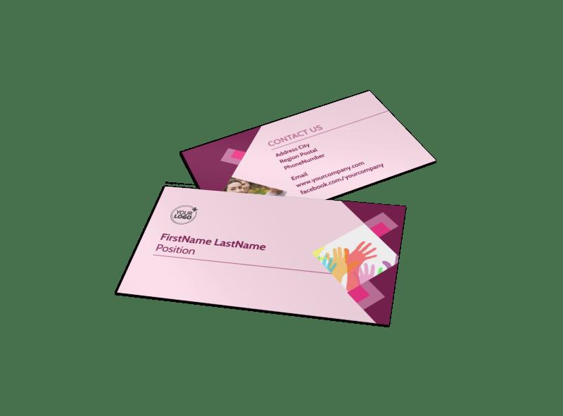 Church Fundraiser Business Card Template Preview 1