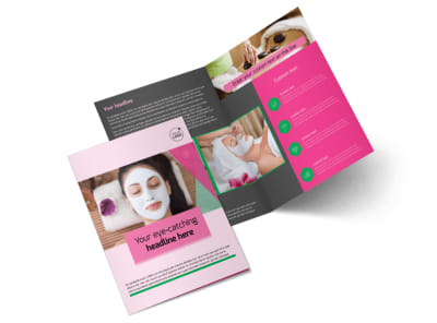 Health & Beauty Spa Bi-Fold Brochure Template 2 preview