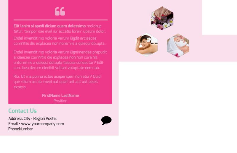 Salon & Day Spa Postcard Template Preview 3
