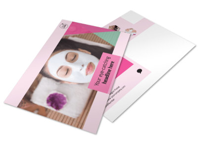 Health & Beauty Spa Postcard Template preview