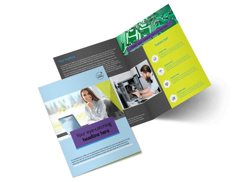 Computer Repair Brochure Template Preview 4