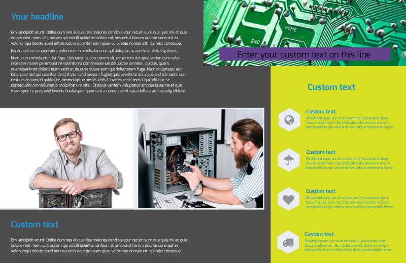 Computer Repair Brochure Template Preview 3