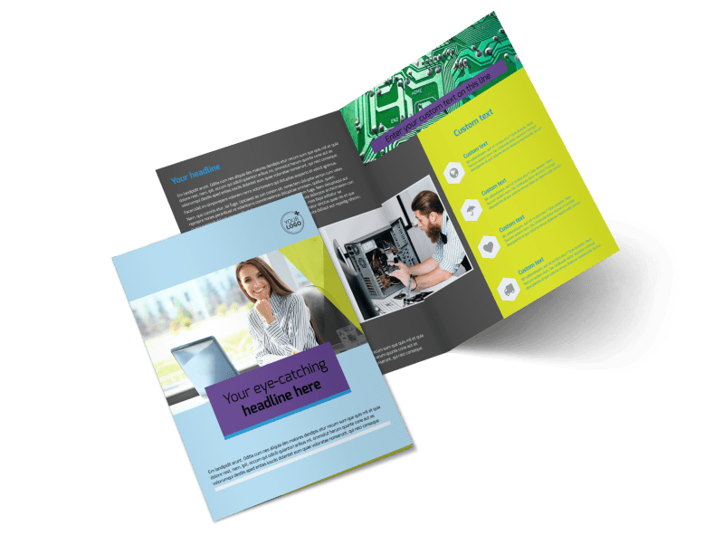 Computer Repair Brochure Template Preview 1