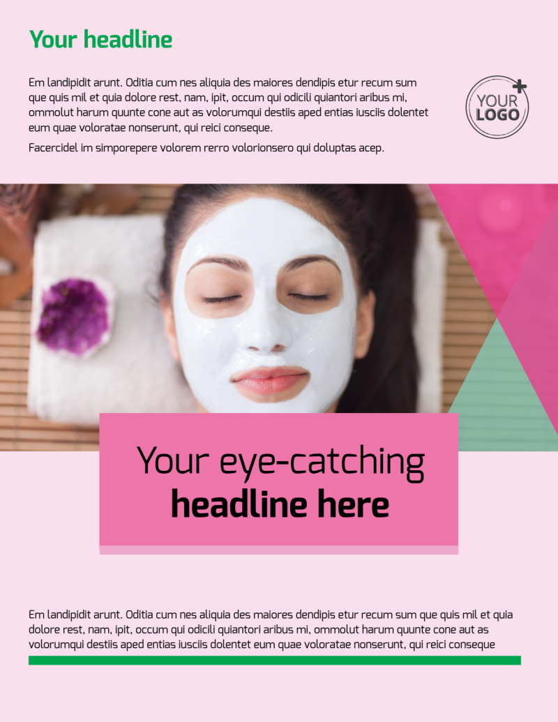 Salon & Day Spa Flyer Template Preview 2