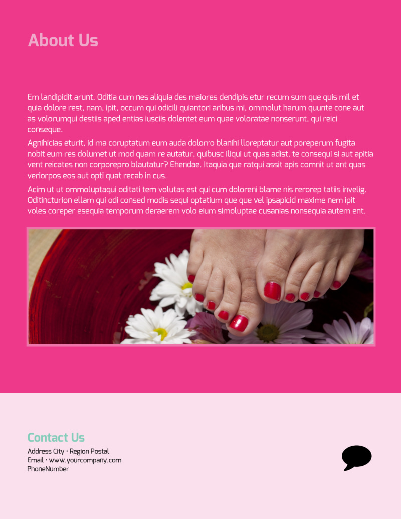 Salon & Day Spa Flyer Template Preview 3