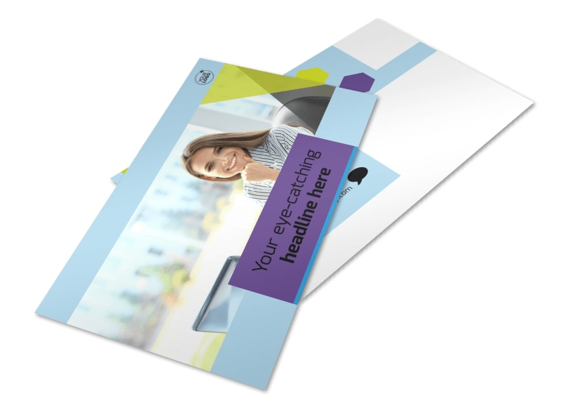 Computer Services & Consulting Postcard Template 2
