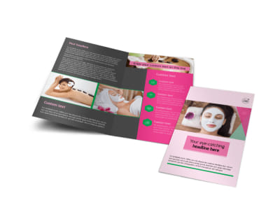 Health & Beauty Spa Bi-Fold Brochure Template preview
