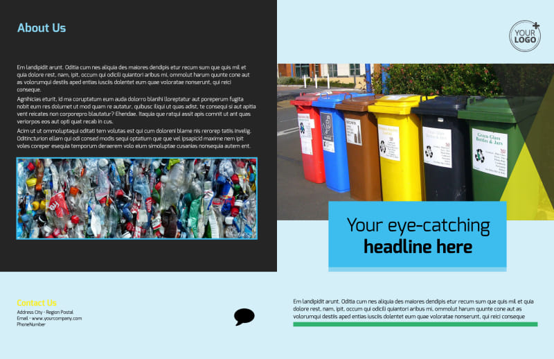 Waste Disposal Brochure Template Preview 2