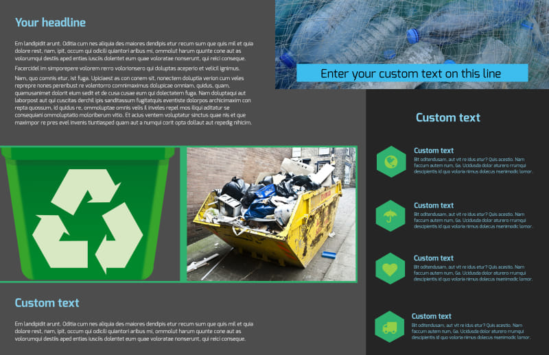Waste Disposal Brochure Template Preview 3