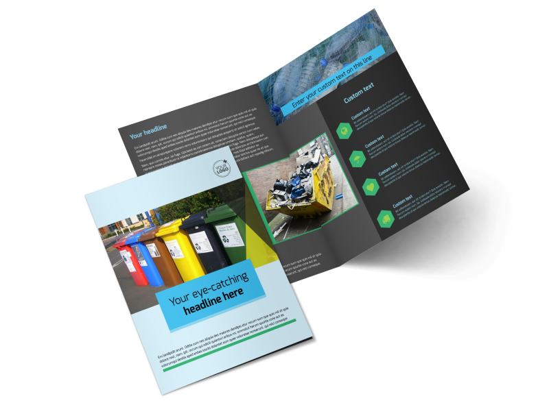 Waste Disposal Brochure Template Preview 1