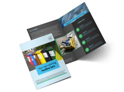Waste Disposal Bi-Fold Brochure Template 2