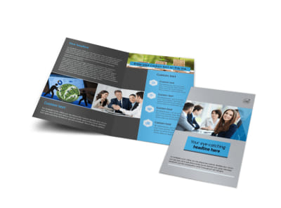 Investment Bank Bi-Fold Brochure Template preview