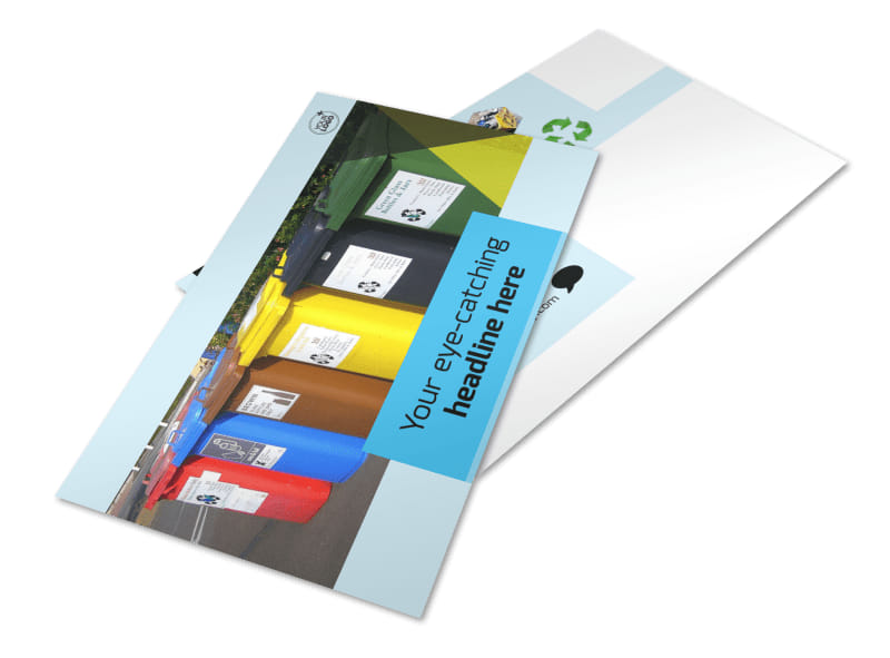 Waste Disposal Postcard Template 2
