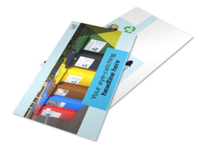 Waste Disposal Postcard Template 2 preview