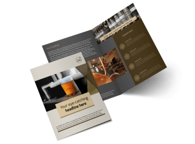 Local Brewery Bi-Fold Brochure Template 2