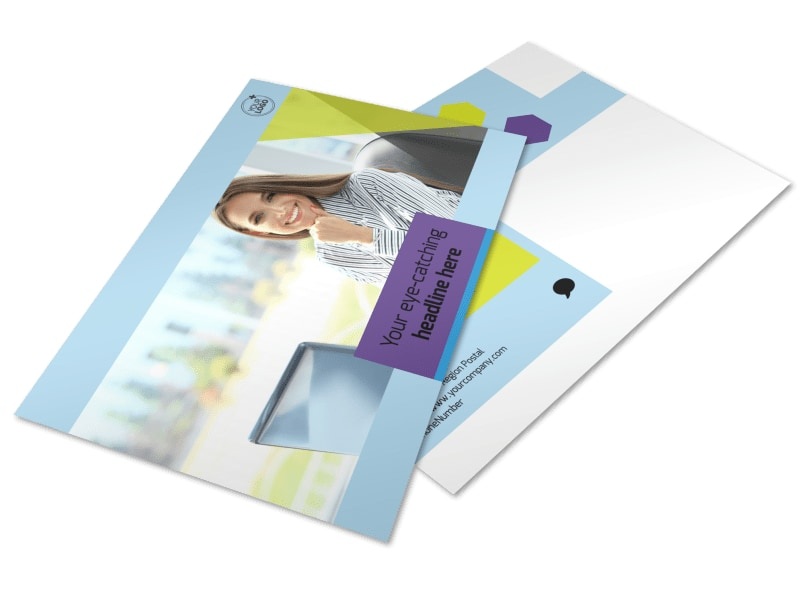 Computer Services & Consulting Postcard Template