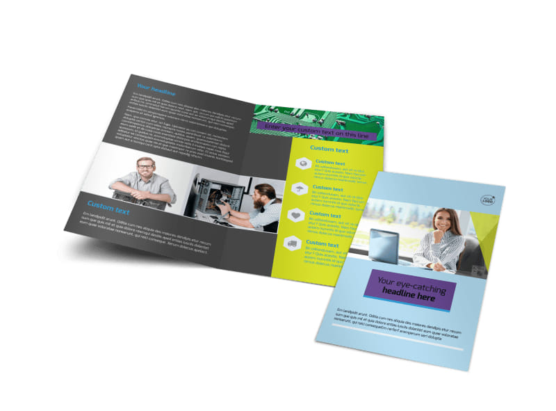 Computer Services & Consulting Bi-Fold Brochure Template