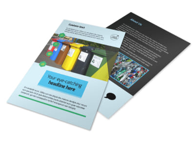 Waste Disposal Flyer Template 3 preview