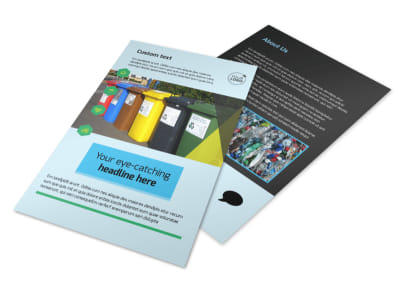 Waste Disposal Flyer Template 3