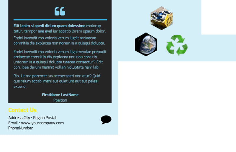 Waste Disposal Postcard Template Preview 3