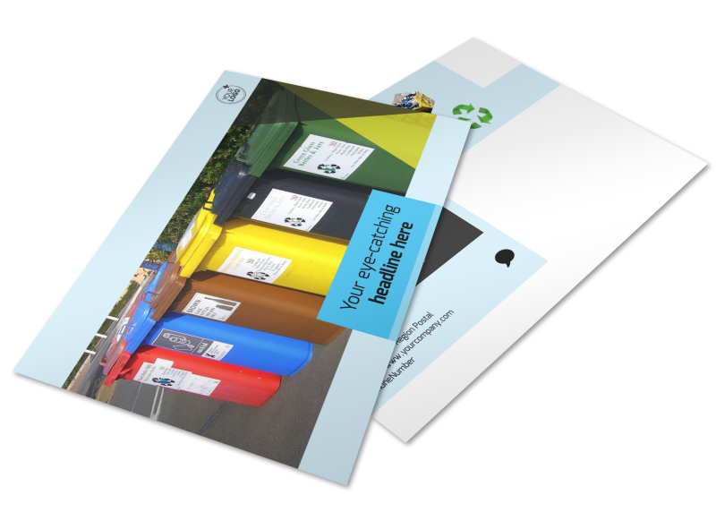 Waste Disposal Postcard Template Preview 1