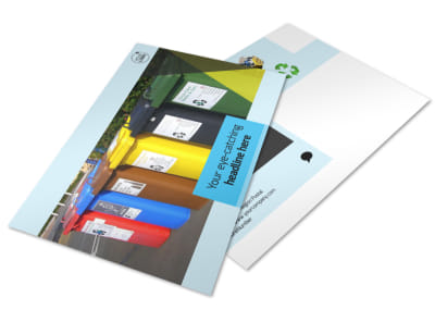 Waste Disposal Postcard Template preview