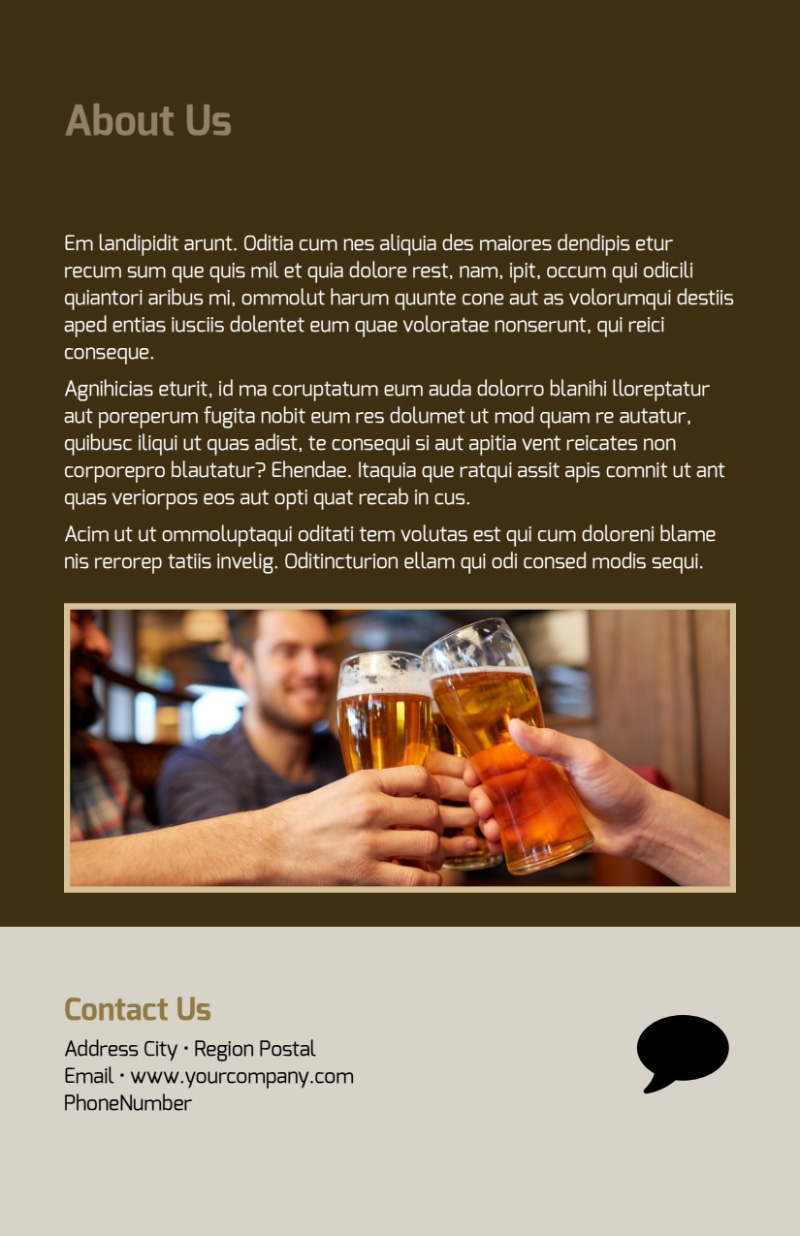 Local Brewery Flyer Template Preview 3