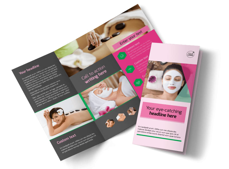 Salon Day Spa Brochure Template MyCreativeShop - Spa brochure templates