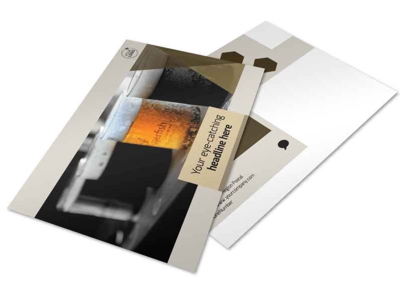 Local Brewery Postcard Template Preview 1